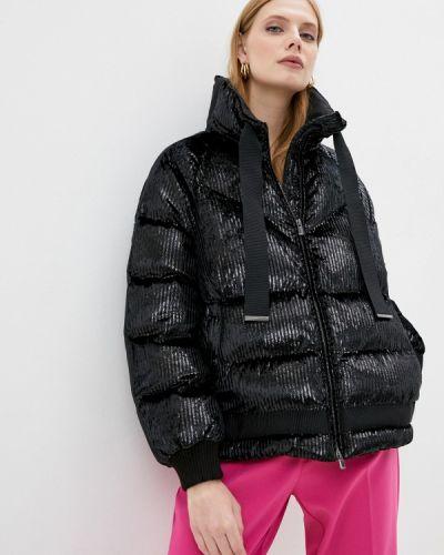 Теплая черная утепленная куртка Pinko
