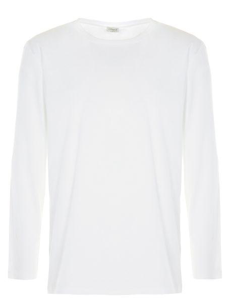 Хлопковая белая базовая футболка с круглым вырезом Zimmerli