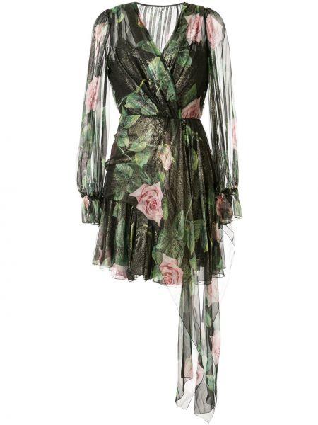 Платье с запахом с цветочным принтом Dolce & Gabbana