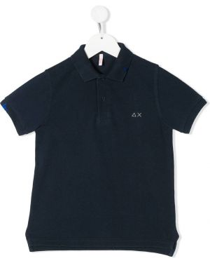 Синяя классическая рубашка Sun 68