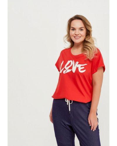 Красная футболка Zizzi