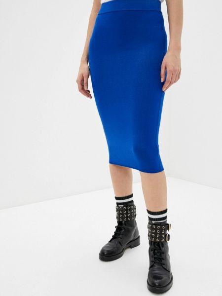 Облегающее платье осеннее синее I'm Isola Marras