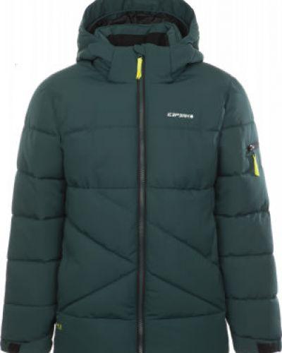 Зеленая утепленная куртка на молнии Icepeak