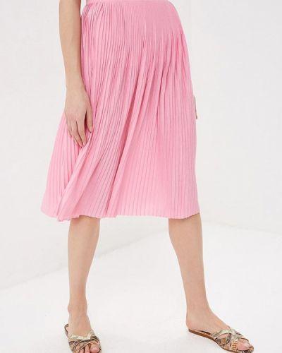 Плиссированная юбка розовая Vila