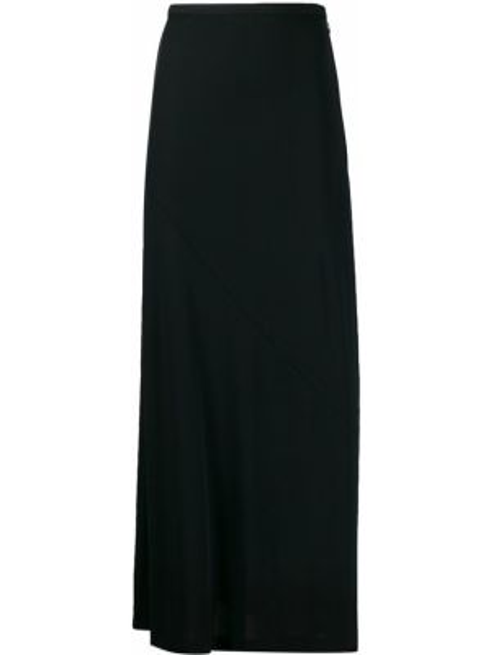 Черная расклешенная ажурная юбка макси Maison Martin Margiela Pre-owned