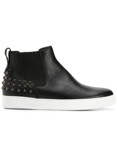 Buty skórzane czarne Philipp Plein