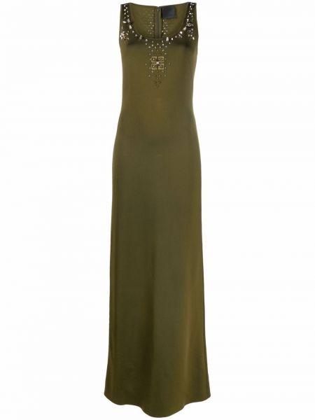 Sukienka z wiskozy - zielona Givenchy