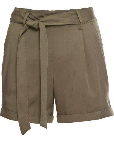 Оливковые брюки на резинке с воротником с поясом с открытым носком Bonprix