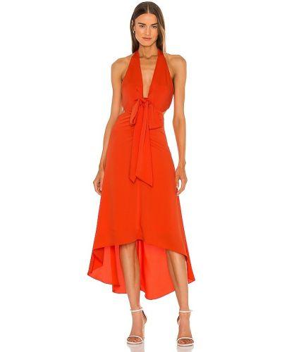 Czerwona sukienka midi Bcbgmaxazria