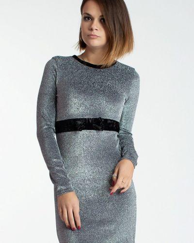 Вечернее платье осеннее серебряный Modna Anka