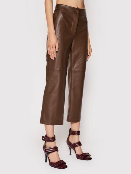 Brązowe spodnie Liviana Conti