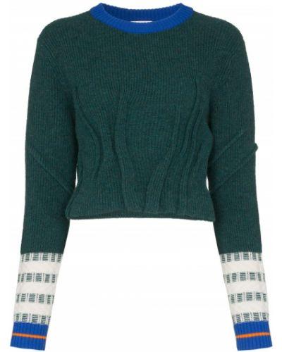 Синий вязаный свитер в рубчик I-am-chen