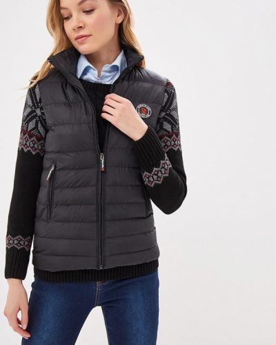 Утепленная куртка демисезонная черная Giorgio Di Mare