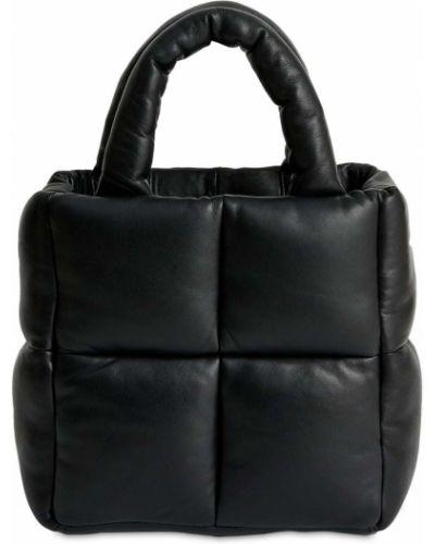 Стеганая кожаная сумка с ручками на молнии Stand Studio