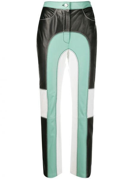 Czarne spodnie z wysokim stanem skorzane Kirin