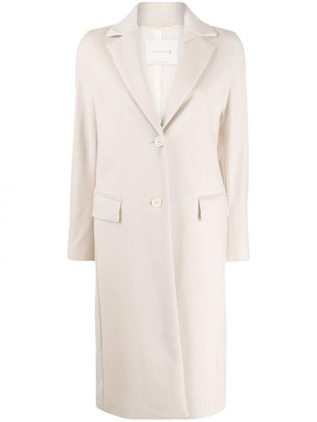 Шерстяное длинное пальто с капюшоном на пуговицах Mackintosh