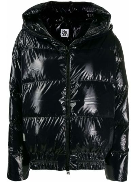 Куртка с капюшоном черная на молнии Bacon