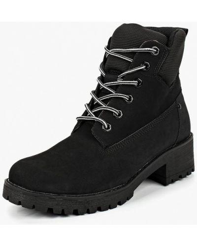 Ботинки на каблуке осенние из нубука Keddo