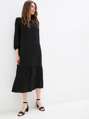 Черное повседневное платье Raya