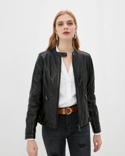 Черная кожаная куртка Giorgio Di Mare