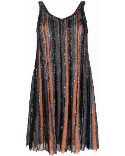Шелковое платье мини - черное Missoni