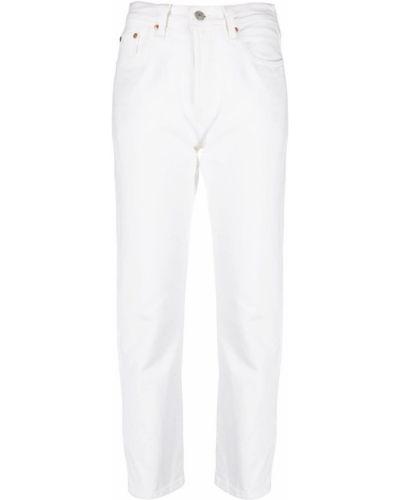 Хлопковые прямые белые джинсы Levi's®