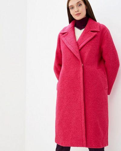 Розовое пальто с капюшоном Grand Style