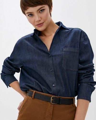Джинсовая рубашка синяя Weekend Max Mara