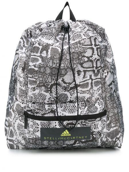 Skórzany plecak biały czarny Adidas X Stella Mccartney