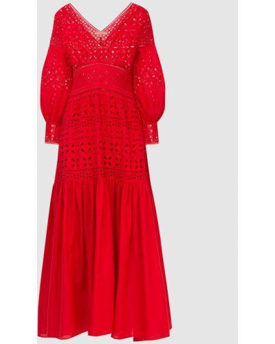 Красное платье макси Ermanno Scervino