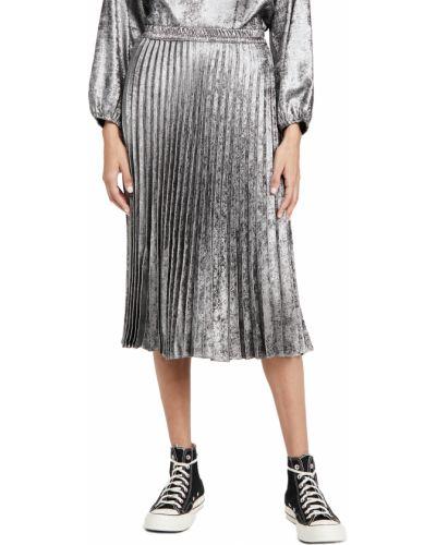 Серебряная плиссированная юбка на резинке Xírena
