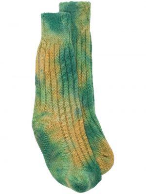 Зеленые шерстяные носки The Elder Statesman