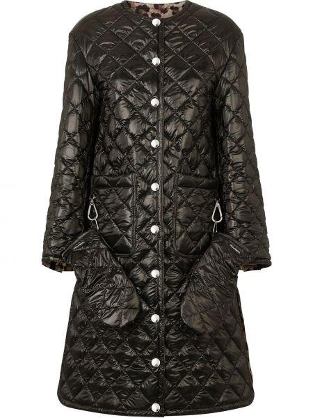 Стеганое пальто - черное Dolce & Gabbana