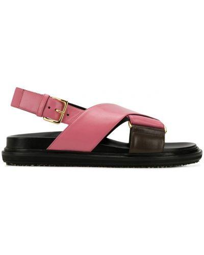 Сандалии кожаный розовый Marni