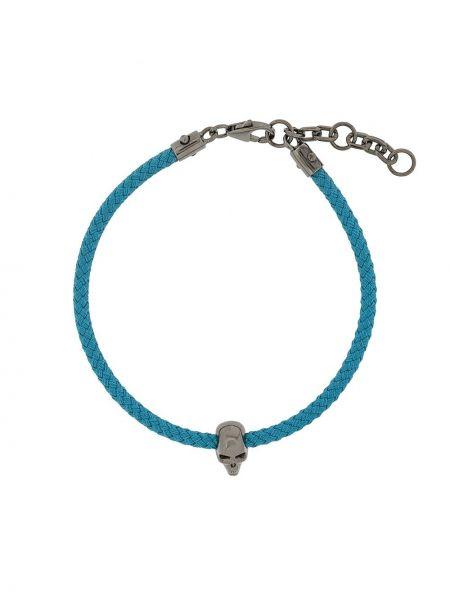 Плетеный синий плетеный браслет с подвесками Northskull