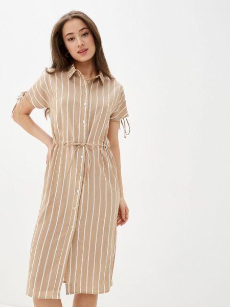 Платье платье-рубашка бежевое Savage