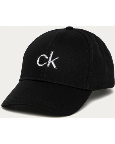 Czarny kapelusz materiałowy Calvin Klein