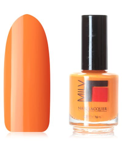 Оранжевый лак для ногтей Milv