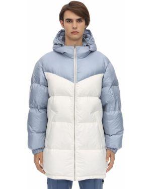 Prążkowana niebieska kurtka pikowana Danilo Paura