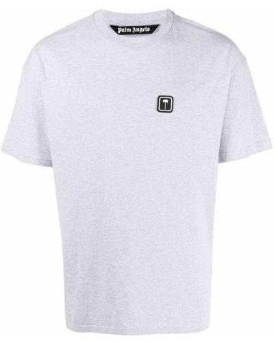 T-shirt bawełniana - szara Palm Angels