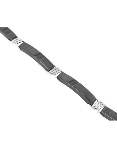 Серебряный браслет с камнями керамический Evora