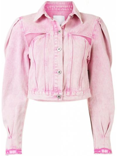 Хлопковая розовая короткая куртка на пуговицах Ground Zero