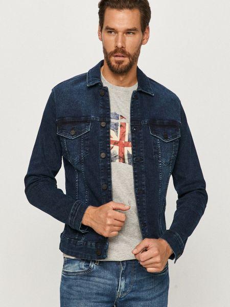 С рукавами синяя джинсовая куртка с манжетами Only & Sons