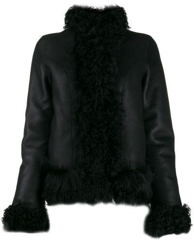 Прямая черная длинная куртка Saks Potts