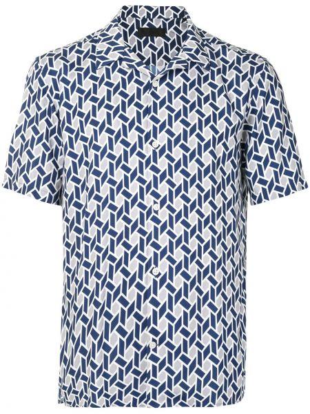 Классическая темно-синяя прямая классическая рубашка с воротником D'urban