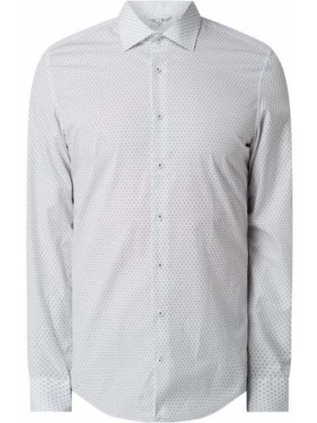Biała koszula bawełniana z długimi rękawami Seidensticker