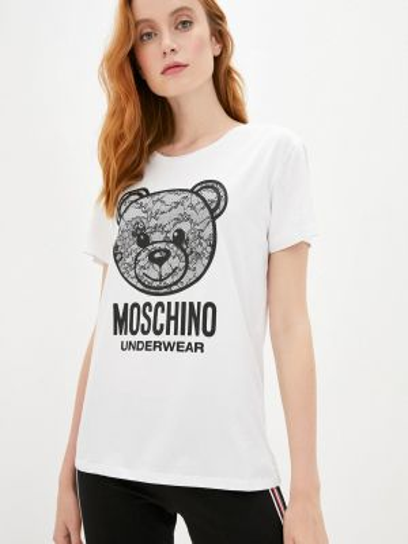 Футболка белая футбольный Moschino Underwear