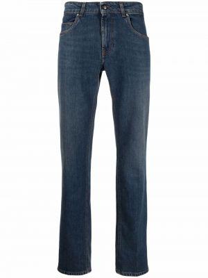 Синие прямые джинсы классические Fay
