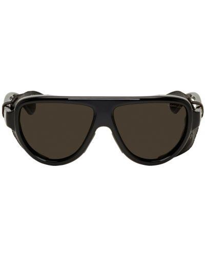 Кожаные белые солнцезащитные очки Moncler
