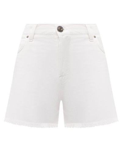 Хлопковые белые джинсовые шорты Two Women In The World